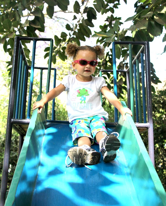 Elly on Slide
