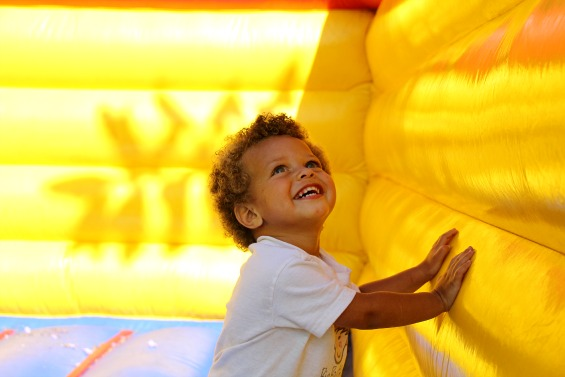 Max in Bounce House